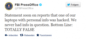 Twitter  FBIPressOffice Statement