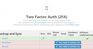 Two Factor Auth List - Opera